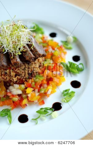 Beef and cous-cous salad