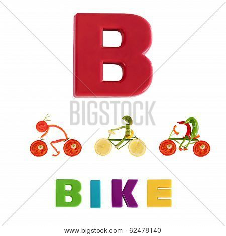 Illustrated Alphabet.  Illustration Of The Letter B
