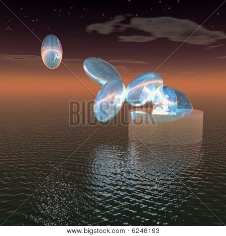 Blue Space Eier