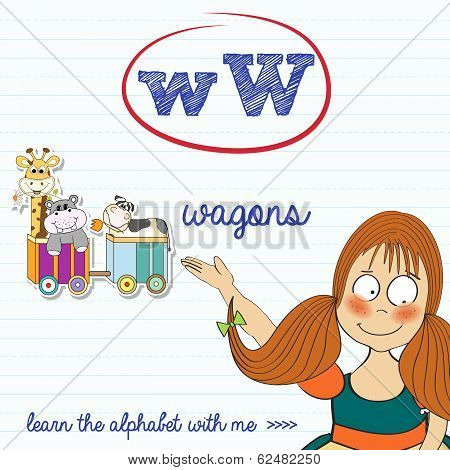 Alphabet Worksheet Of The Letter W