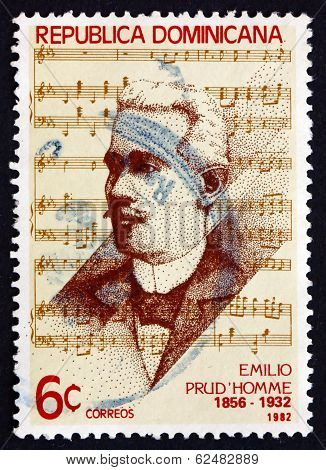 Postage Stamp Dominican Republic 1982 Emilio Prud'homme