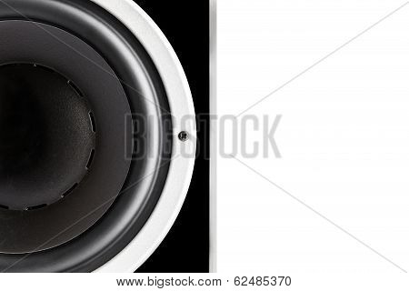 Black Audio Speaker Membrane