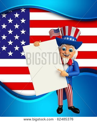 uncle sam with sign