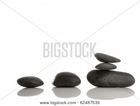 spa stones over white background