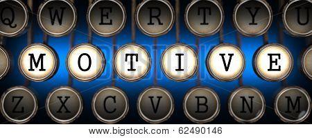 Motive on Old Typewriter's Keys.