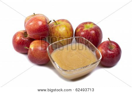Applesauce On White Background