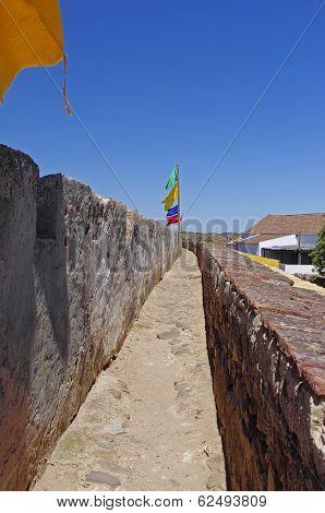 Walls Of Castle Castelo De Castro Marim In Portugal.