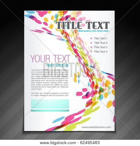 vector colorful wave brochure flyer magazine cover and poster template