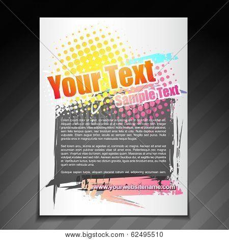 vector modern brochure flyer poster template design