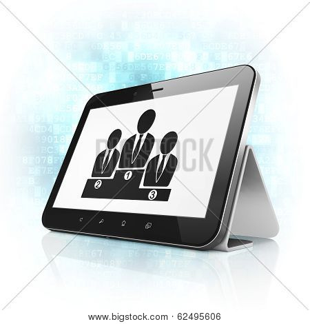 Law concept: Business Team on tablet pc computer