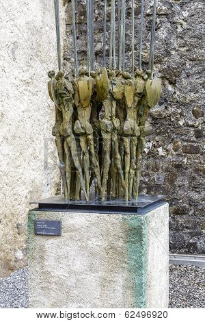 Bronze Sculpture, Spearmen, By Nag Arnoldi