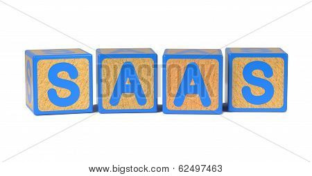 SAAS - Colored Childrens Alphabet Blocks.