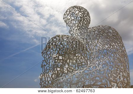 Sculpture At Antibes By Jaume Plensa