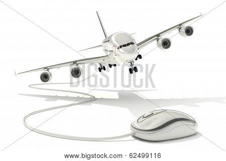 Book a flight online concept