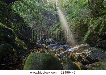 Sun Rays Over The River