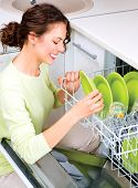 stock photo of dishwasher  - Dishwasher - JPG