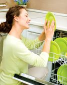 foto of dishwasher  - Dishwasher - JPG