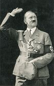 BERLIN, GERMANY, CIRCA 1938 - Vintage portrait of Adolf Hitler, leader of nazi Germany