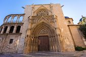 image of apostolic  - Valencia Cathedral Apostoles door where Tribunal de las Aguas traditional court meets in Spain - JPG