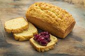 image of home-made bread  - freshly baked - JPG