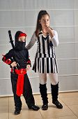 image of purim  - Two Israeli siblings - JPG