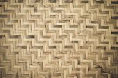 Bamboo Wooden Weave Texture Background