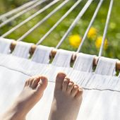 Relaxing Kid On Hammock