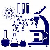 stock photo of gene  - science and chemistry icons set vector  illustration - JPG