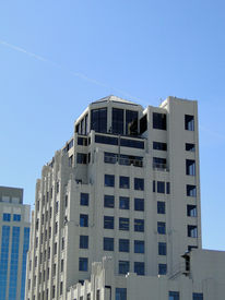 stock photo of boise  - This landmark building was constructed in 1930 in an Art Deco style of architecture - JPG