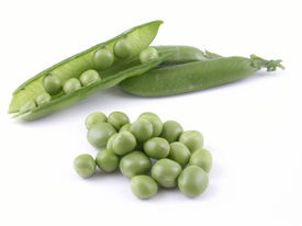 image of sweet pea  - sweet pea isolated on white - JPG