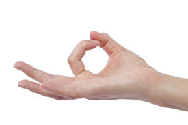 pic of verbs  - close up of female human hand flicking for composites - JPG