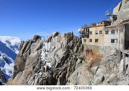 Aiguille du Midi summit at Mont Blanc