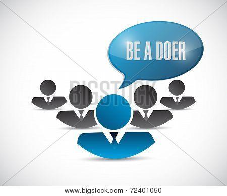 Teamwork. Be A Doer Illustration Design