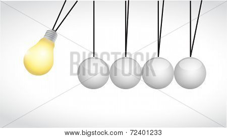 Idea Light Bulb Spheres Illustration Design