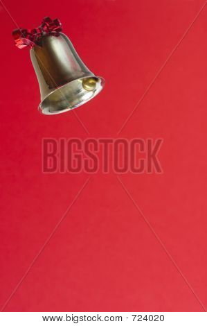 Ringing Bell On Red Background