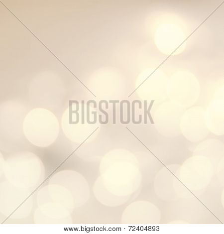 Vintage Christmas Background With Bokeh Lights.  Defocused Bokeh Twinkling Lights Festive Holiday Pa