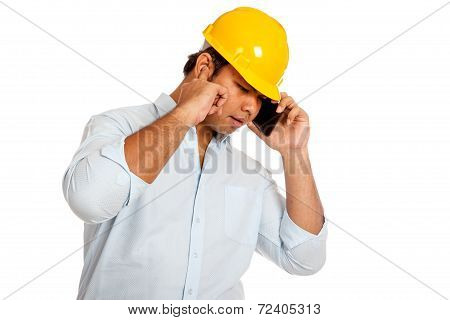 Asian Engineer Man Can't Hear His Phone Stop An Ear
