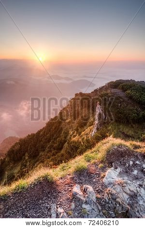 Sunrise On Summer Mountain Ridge - Slovakia