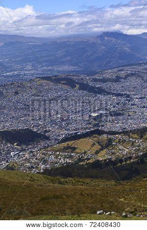View Over Quito, Ecuador