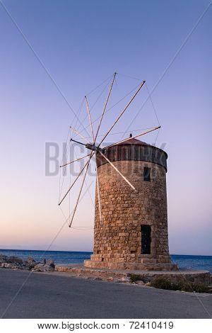 Windmill In Rhodos