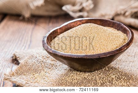 Bowl With Amaranth