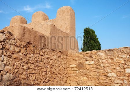 Ancient Fortress In Catalonia, Spain, Iberian Citadel Of Calafell