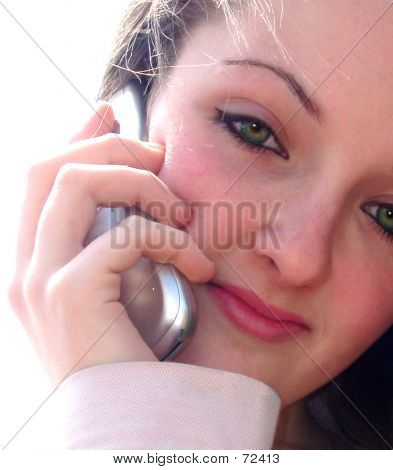 Teen On Phone