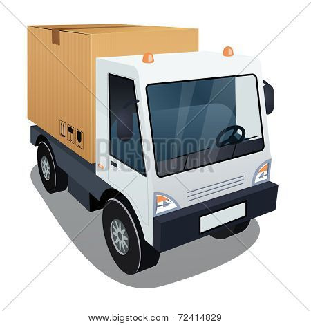 Delivery truck with a big box