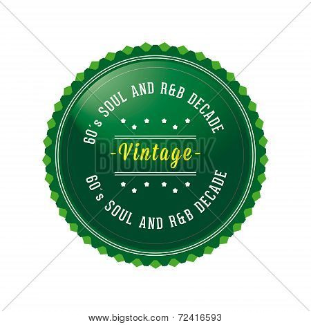 60´s Vintage, Retro Style Badge