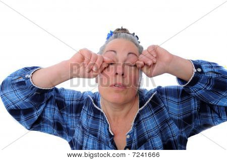 Stressed Middle Aged Woman