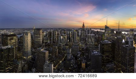 Manhattan Sunset Panorama, New York City