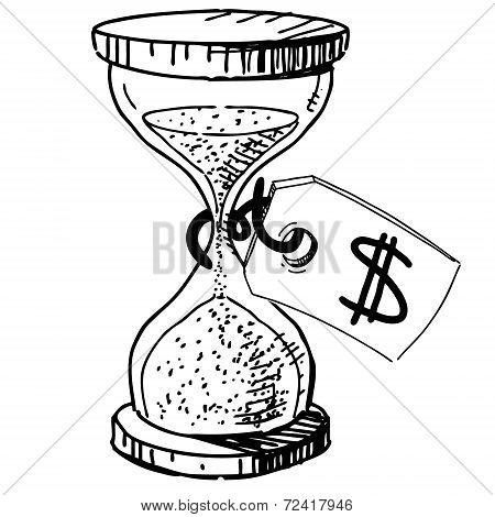 Sand glass clock