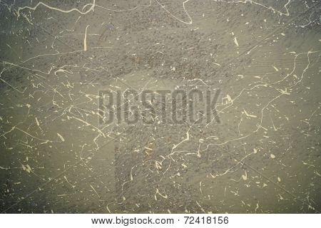 dirty fiber glass surface
