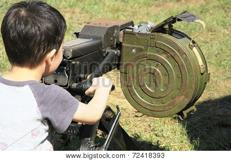 Children With Machine Gun